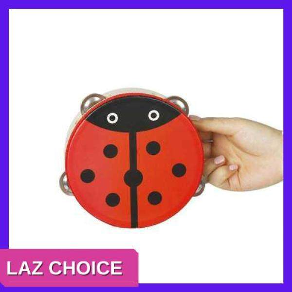 LAZ CHOICE 6 Handheld Tambourine Hand Drum Percussion Musical Toy with 4 sets Metal Jingles for Party Kids Games, 1pc/ Pack (4 patterns Random Delivery) (Random) Malaysia