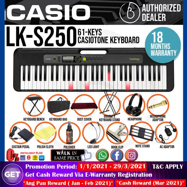 Casio LK-S250 61-Keys Casiotone Keyboard Super Value Package (LKS250 / LK S250) Malaysia