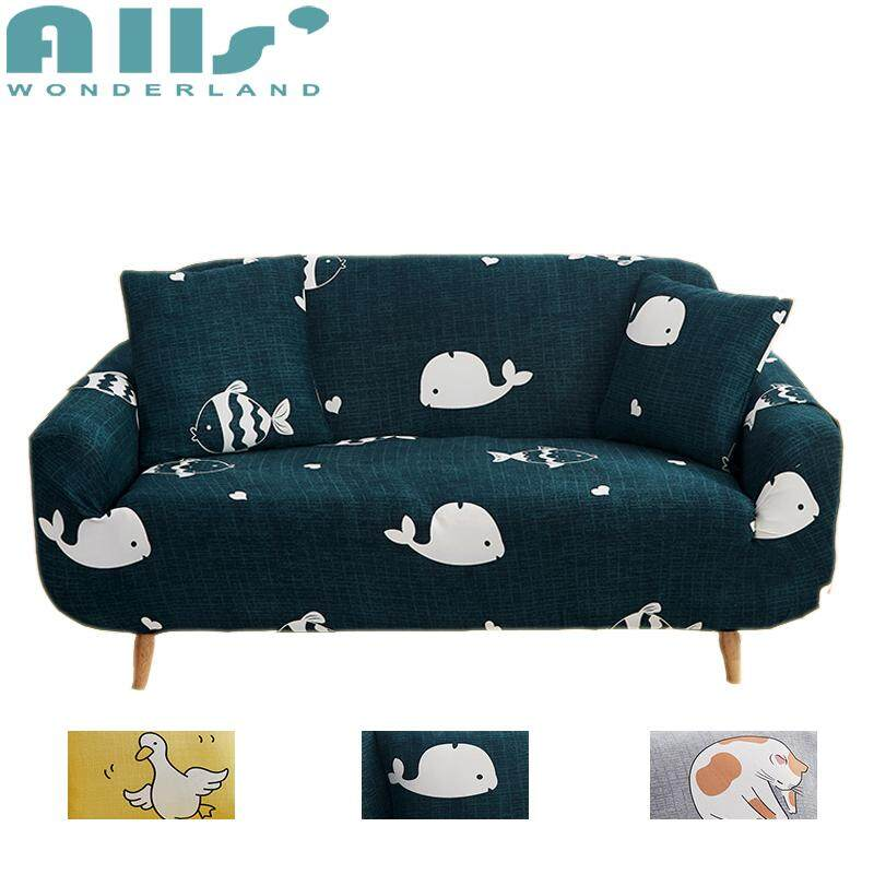 【COVER】1/2/3/4 seater Animal Pattern Elastic All-inclusive Universal Stretchable Cover for Sofa  Multi-sizes Slipcover