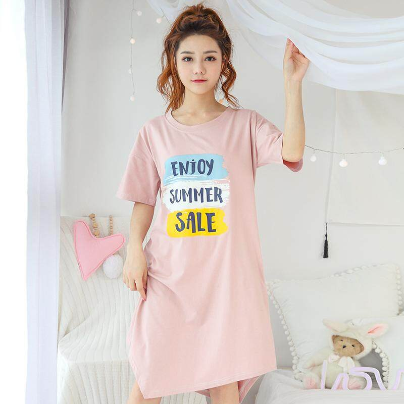 8656386db10 [NEW ARRIVAL] Women Qmilch Milk Silk Pyjamas Sleepwear Over Knee Dress  Beautiful Artwork with
