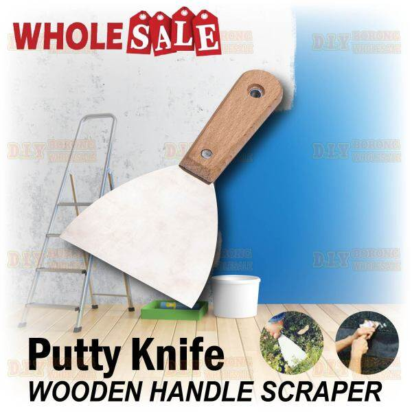 Stainless Steel Scraper with Wooden Handle