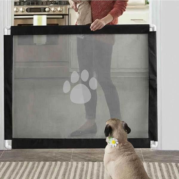 Cổng an toàn cho thú cưng Gấp hàng rào lưới bảo vệ di động Cài đặt mọi nơi cho chó mèo Vật nuôi phù hợp với không gian trong vòng 39IN