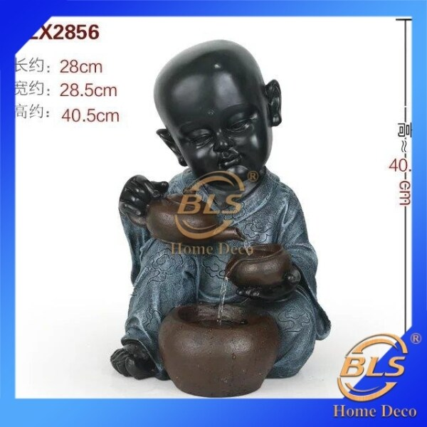 WATER FOUNTAIN - LITTLE MONK 2856 FENG SHUI WATER FEATURES FOUNTAIN