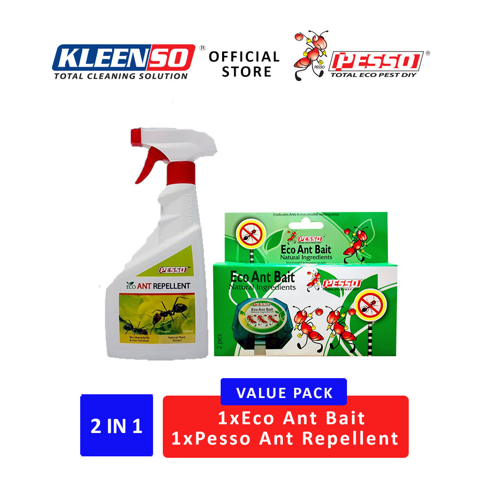 Pesso Eco Ant Repellent Spray 500ml Pesso Eco Ant Bait 2 Bait Stations Per Pack Lazada