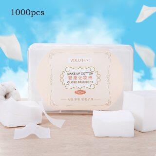 1000 Miếng Bông Đóng Gói Trong Hộp, Khăn Bông Trang Điểm Miếng Tẩy Trang Mềm Mặt Làm Sạch Giấy Tẩy Rửa Chăm Sóc Da thumbnail