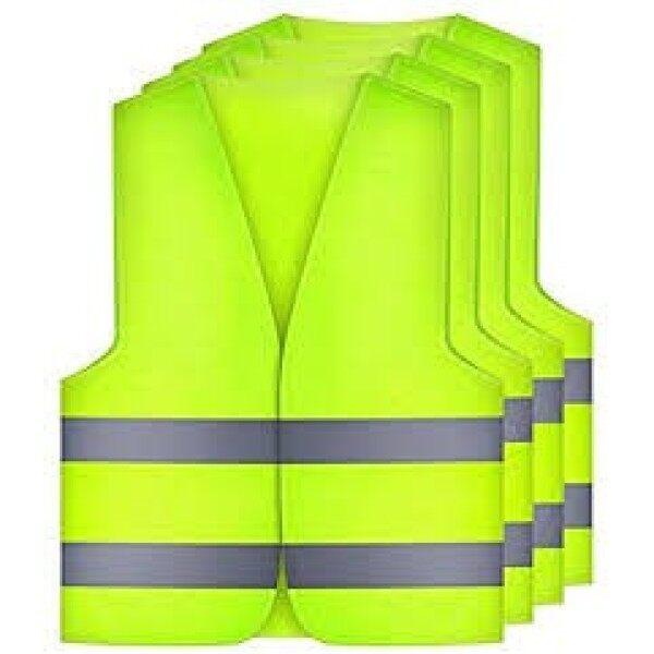 Safety Vests Car Puncture Vest Safety Vest, Safety Warning Vest En 471 with 360 Degree Reflective Stripes and Buckle