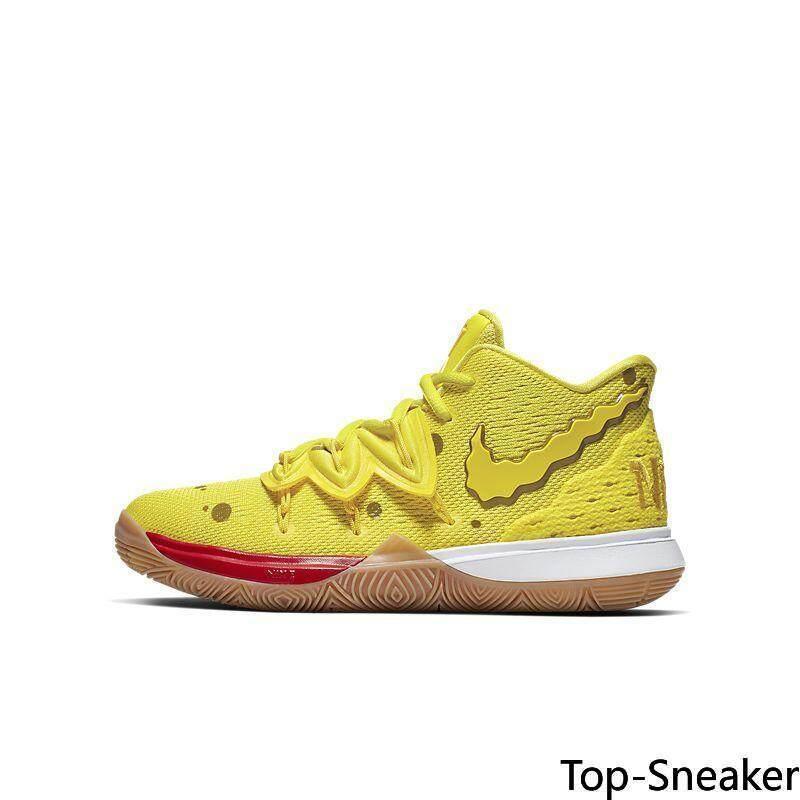 Nike_KYRIE 5 X SpongeBob SquarePants Patrick Patrick Pria Sepatu Basket # CJ7227-700 CJ7227-600 CJ6951-300