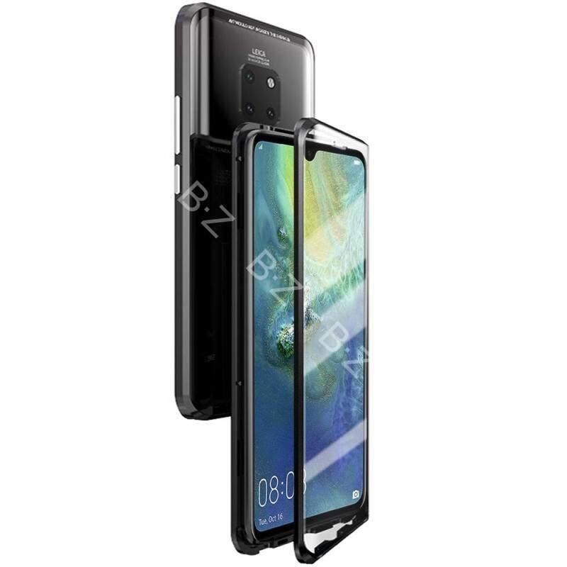 Giá Kính Cường Lực 2 Mặt Từ Hấp Phụ Kim Loại Ốp Lưng Dành Cho Huawei Mate 20X Điện Thoại Ốp Lưng Mỏng Miếng Dán Kính Cường Lực 2 trong 1 Khung Nhôm Nam Châm Hấp Phụ Vỏ