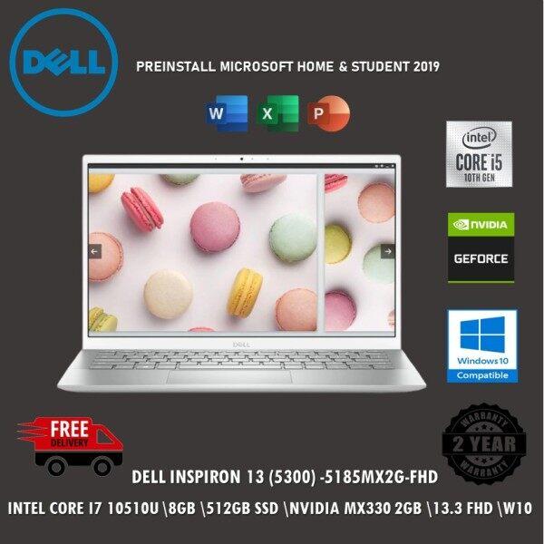 Dell Inspiron 13 5300-5185MX2G-W10 13.3 FHD Laptop Platinum Silver ( I7-10510U, 8GB, 512GB SSD, MX330 2GB, W10, HS ) Malaysia