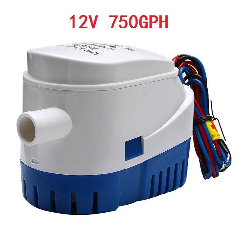 12V Boat Automatic Submersible Bilge Water Pump 750GPH Functional