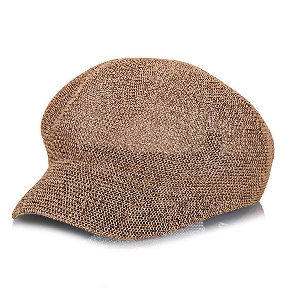 d2cb5abcb6738b Women Casual Braided Straw Hat Cool Breathable Fashion Sun Visor Holiday  Spring Octagonal Cap Beach Summer