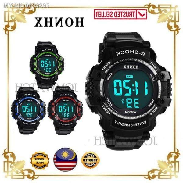 [🔥JOM BEST SELLING!🔥] 2 Years Warranty Original HONHX R SHOCK Big Dial LED Sport Digital Men Watch Jam Tangan Lelaki Malaysia