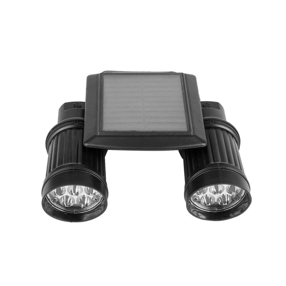GoodGreat Solar energy PIR Powered Motion Sensor Dual Spot Security Light Outdoor Bright Light Lamp