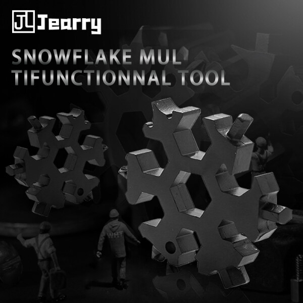 Jearry Multifunction Snowflake Wrench 18 in One Multifunction Hexagon Plum Stainless Steel Universal Portable Tool Set