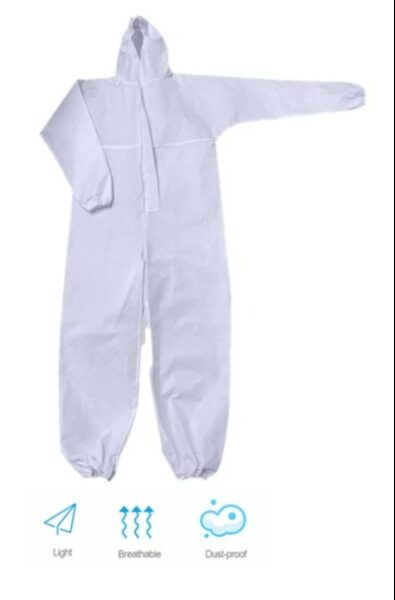 Non Woven SF Disposable H/D Coverall Factory Disinfectant Protective Coat