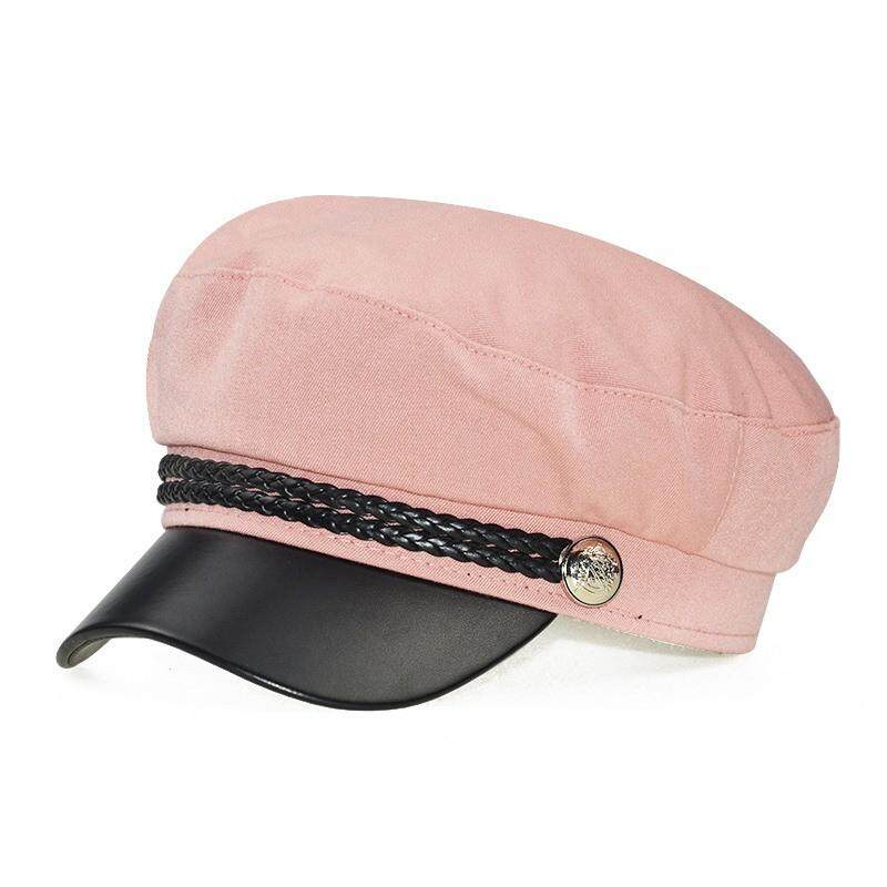 f13317bdf Fashion Lace cotton hat cap women Casual streetwear rope flat cap Elegant  solid autumn winter warm beret hat female