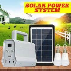 Bộ Phát Điện Hệ Thống Năng Lượng Mặt Trời Loa Bluetooth Tấm Năng Lượng Mặt Trời Kèm 2 Bóng Đèn