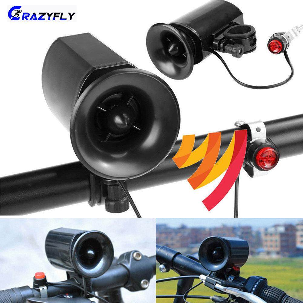 Super Loud Bike Electric Horn 6 Sound Loud Bicycle Bell Ring Siren Alarm Speaker