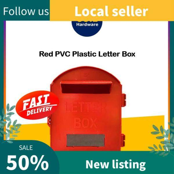 COIL Red PVC Post Letter Box/ RED Plastic Mail Box/ Peti Surat Plastik Merah/ Mailbox/ Letterbox / Merah / Red