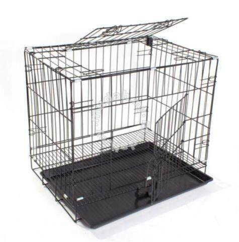 2 Feet / 2 Doors Cat Cage 23.5l X 17w X 19.5h By P Store.