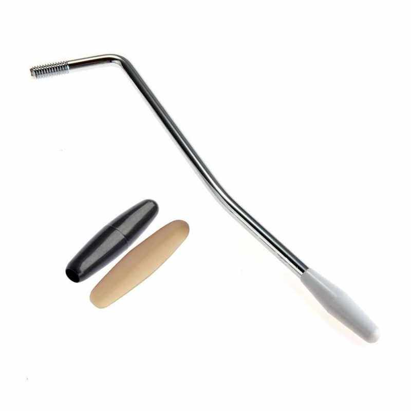 5mm Electric Guitar Thread Single Tremolo Arm Crank Handle with 3 Tip Caps for Single Tremolo System Silver (Standard) Malaysia