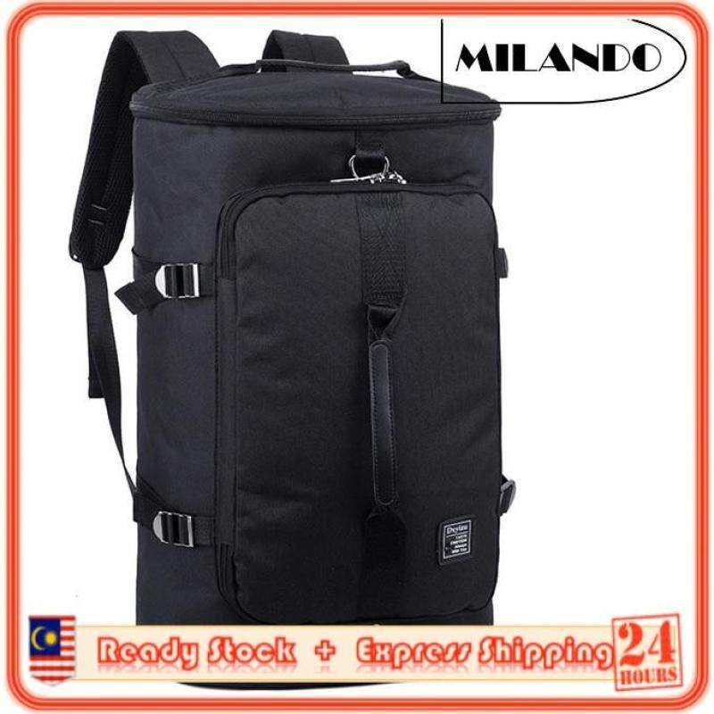MILANDO 3-Way Carry Sport Duffel Duffle Unisex Travel Gym Backpack Bag With Shoe Compartment Bags (Type 2)