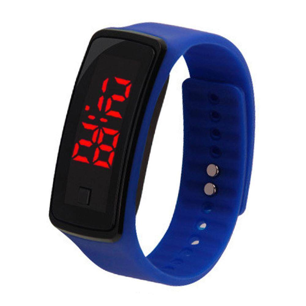 BuyInBulk Silicone Rubber Gel Jelly Unisex LED Wrist Watch Bracelet Men Women Malaysia