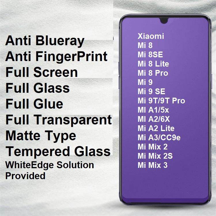 Xiaomi Mi 9 9T 8 8SE SE Lite Pro Mix 2 2S 3 A1 A2 Lite A3 5X 6X Redmi K20  Pro CC9e Matte Anti BlueRay Full Tempered Glass