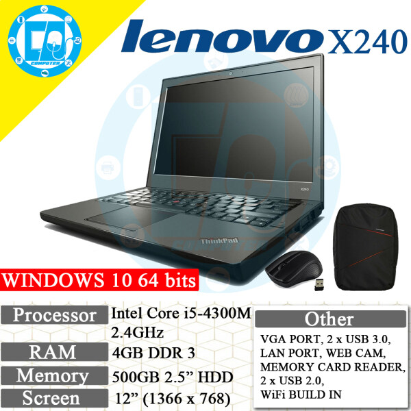 LENOVO X240 ULTRABOOK RECON LAPTOP/NOTEBOOK Malaysia