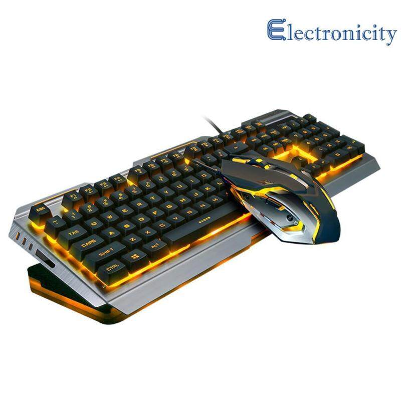 V1 USB Wired Ergonomic Backlit Mechanical Feel Gaming Keyboard Mouse Set Singapore