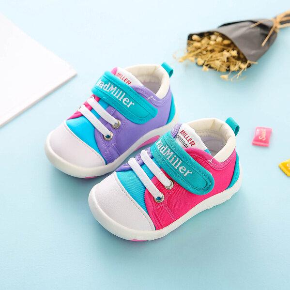 Giày Bé Nữ Giày Bé Mùa Thu Bé Giày Vải Giày Trẻ Em 0-12 Năm Tuổi Mềm Mại Dưới Chống Trượt Mùa Xuân Và Mùa Thu Nam Giày Em Bé Mềm Mại Dưới Không Trượt Thoải Mái Vải Cotton Thoáng Khí giá rẻ