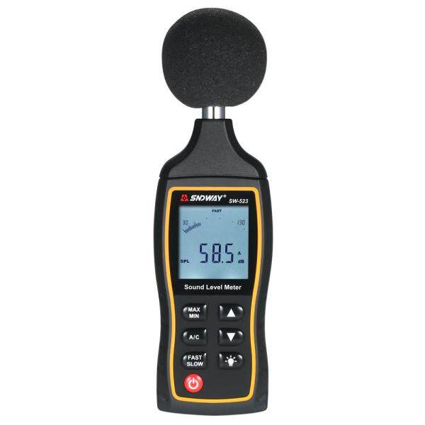 SNDWAY High Accuracy LCD Digital Noisemeter Sound Level Meter 30-130dB Noise Volume Measuring Instrument Decibel Monitoring Tester