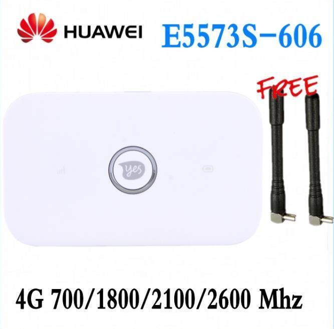 Unlocked Huawei E5573 E5573s-606 CAT4 150M 4G WiFi RouterWireless Mobile  WiFi FDD 700/1800/2100/2600MHz +2pcs antenna