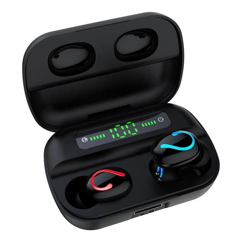 niceEshop HBQ Q61 Wireless Bluetooth Earphone Noise Canceling Call HD Sport Earphone 2600mAh Charging Case Can Charge Mobile Phone Singapore