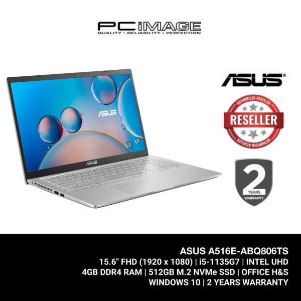 ASUS Laptop (A516E-ABQ806TS) i5-1135G7 / 4GB Ram / 512GB SSD / 15.6 FHD / MS Office / 2 Yrs Warranty - Silver Malaysia