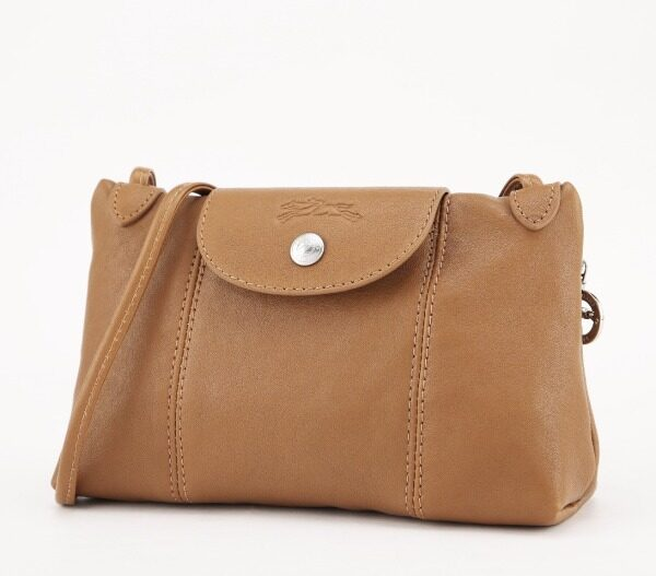 Original longchamp_ lambskin shoulder small square bag Messenger bag temperament clutch bag wallet female models 1061737