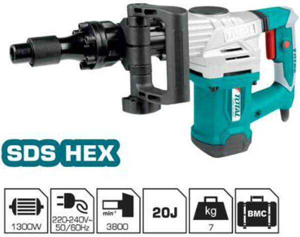 TOTAL DEMOLITION BREAKER SDS HEX 1300W (TH213006)