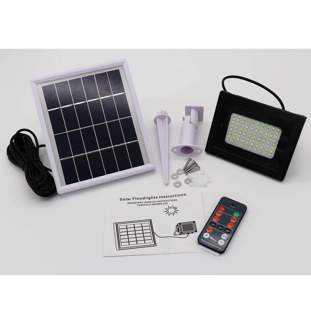 CELE 80 LED Solar Power Remote Control Flood Spot Light Waterproof Outdoor Lamp