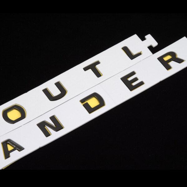 Biểu Tượng Mui Xe Cho Outlander 2013-2019 Logo Logo Nhãn Dán Xe Bonnet Mặt Trước Huy Hiệu Tự Động Trang Trí Màu Đen