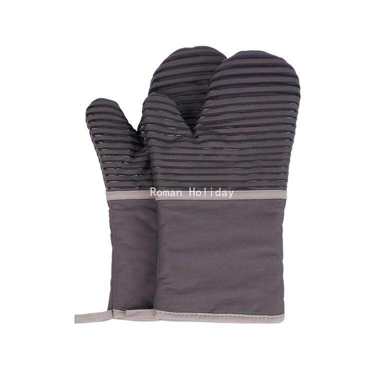 Roman Holiday Cotton Cloth Silicone Insulation Gloves Oven Baking Tools