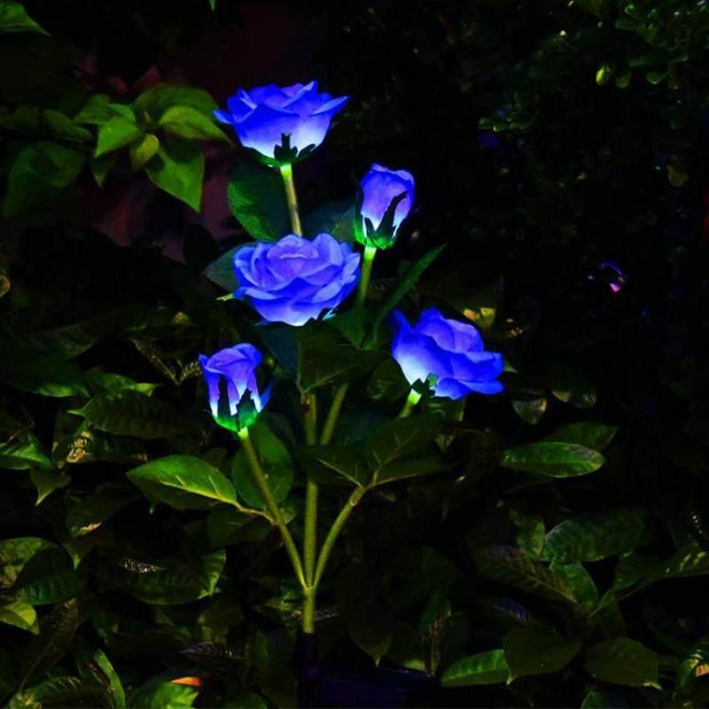 Đèn LED Trang Trí Bãi Cỏ, Đèn Hoa Hồng Năng Lượng Mặt Trời Chống Nước, Dùng Trang Trí Ngoài Trời, Sân Vườn, Sân Sau
