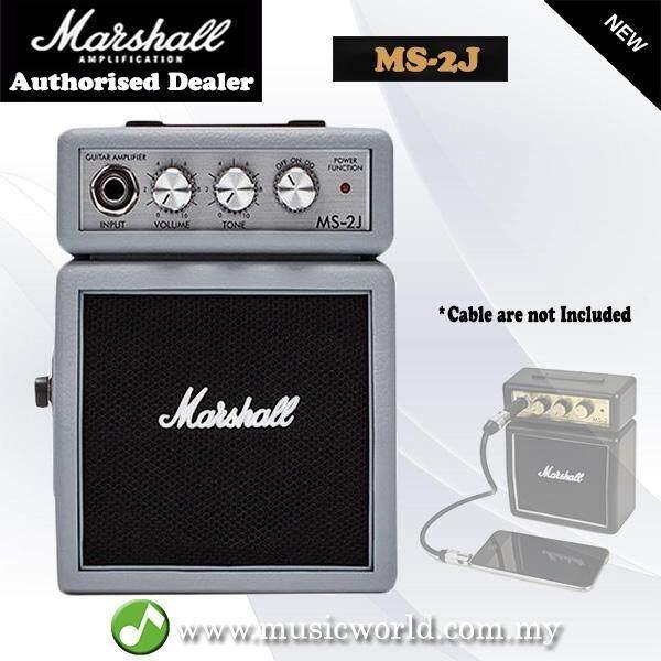 Marshall MS2J 1 Watt Electric Guitar Micro Amp Speaker Battery Powered Amplifier Silver Jubilee (MS-2J / MS-2 / MS2) Malaysia