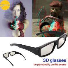 JMS 3D Kính Mắt 3D Kính Hình Tròn Phân Cực Di Động Đa Năng Nhựa Phân Cực 3D Vòng ABS LCD Theatre Kính Xem Phim