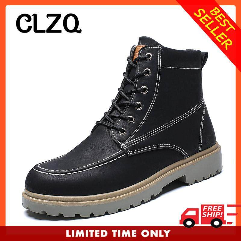 4f55b0fca6 CLZQ Classic Sneakers Winter Outdoor Casual Boots Men's Tooling Shoes Warm  Boots Men's Snow Boots England