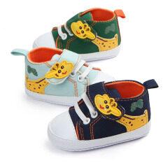 I Love Daddy&Mummy Giày thể thao có đế chống trượt in hình hươu cao cổ phong cách hoạt hình dễ thương chất liệu vải bông mềm cho trẻ mới tập đi – INTL