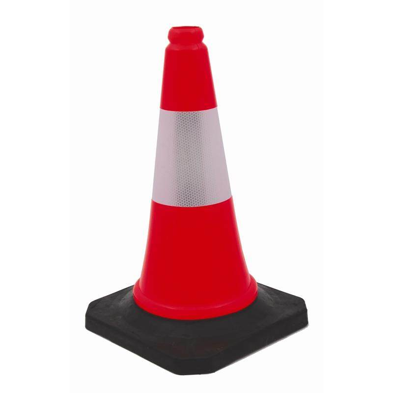 30 REFLECTIVE SAFETY CONE WITH RUBBER BASE-2.5KG