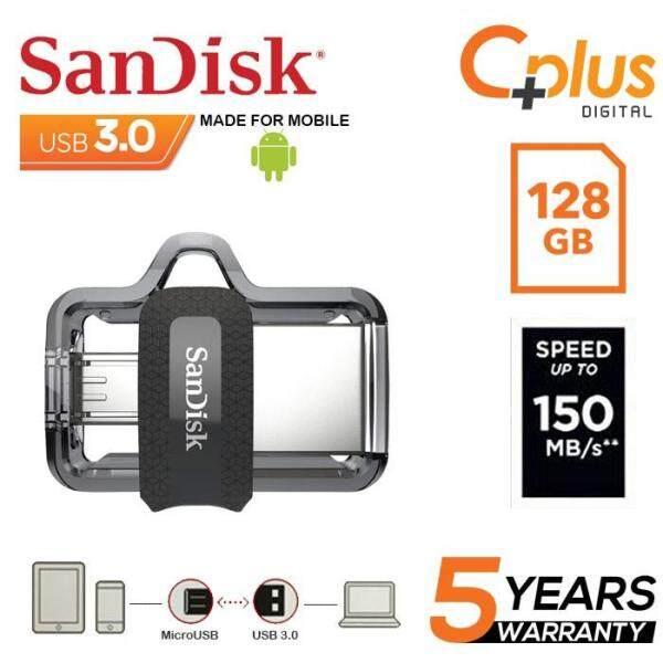 Giá Thẻ Nhớ sandisk Ultra Dual 128 Gb M3.0 Otg Usb Đèn Led Cho android & Máy Tính (Sddd3-128G-G46)