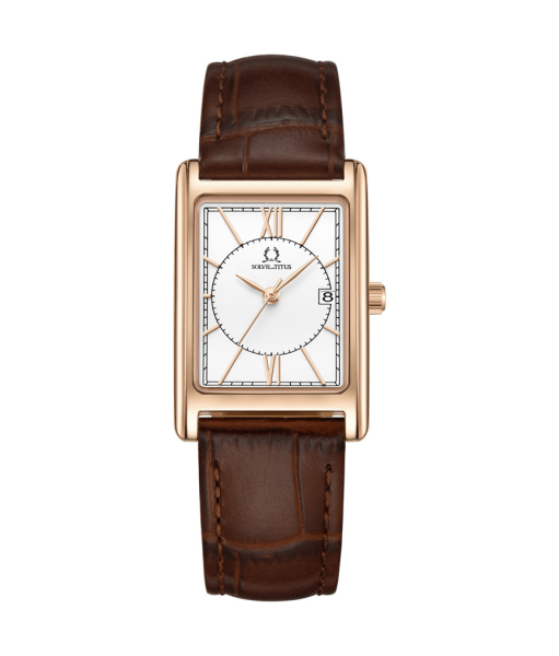 Solvil et Titus W06-03169-001 Mens Quartz Analogue Watch in White Dial and Leather Strap Malaysia