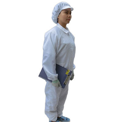 Anti-Static Clothes Long Sleeve Cleanroom Garment Work Safety Vest Blue White Stripe Zipper Dust Clothes Include Work Pants Suit
