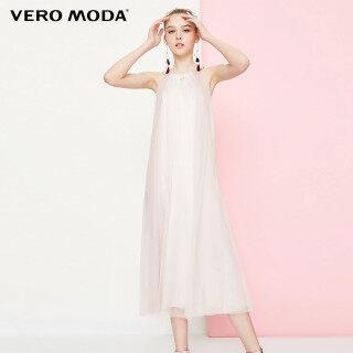 Vero Moda Đầm Màu Hồng Đường Viền Cổ Chữ V Phối Ren, 31837A504 thumbnail